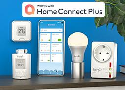 Mit FRITZ! und Home Connect Plus das Zuhause smarter machen